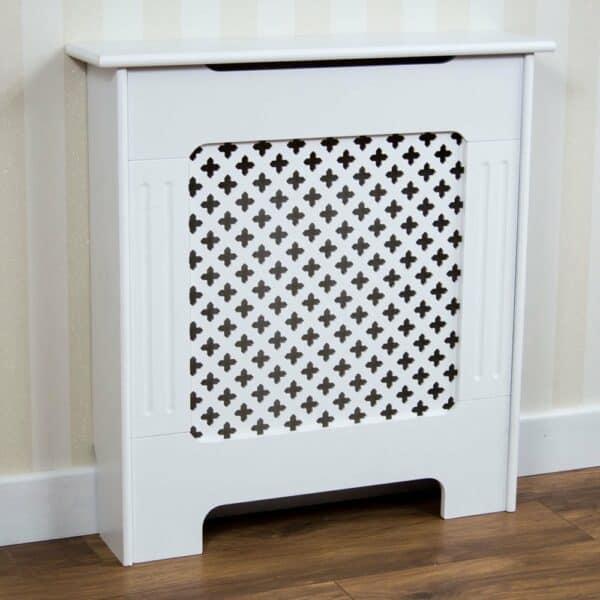 Vida Designs Oxford Small White Radiator Cover MDF