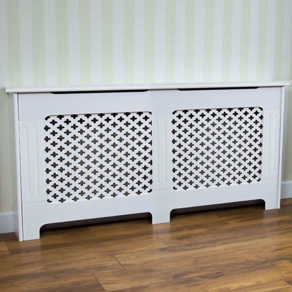 Vida Designs Oxford XL White Radiator Cover MDF