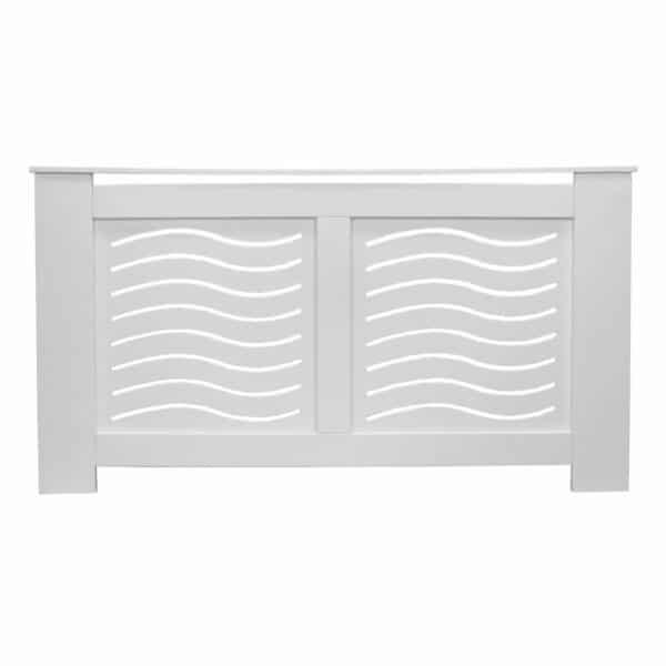 Wave White Radiator Cover - Large