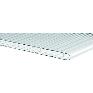 Wickes 10mm Twinwall Polycarbonate Sheet - 700 x 2500mm