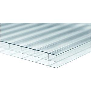Wickes 16mm Triplewall Polycarbonate Sheet - 900 x 3000mm