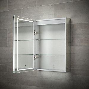 Wickes Adelaide Diffused LED Single Door Bathroom Mirror Cabinet