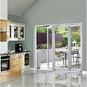 Wickes Burman Slimline Finished Bi-fold Door Set White 9ft Wide