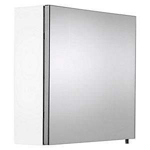 Wickes Dawley Folded White Steel Single Door Bathroom Cabinet - 670 x 500mm