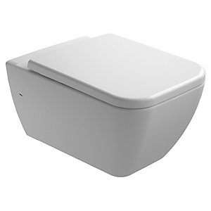 Wickes Emma Easy Clean Wall Hung Toilet Pan & Soft Close Seat