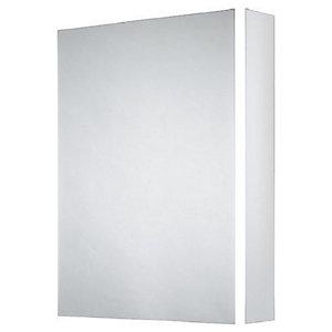 Wickes Grantham Bluetooth LED Single Door Bathroom Mirror Cabinet