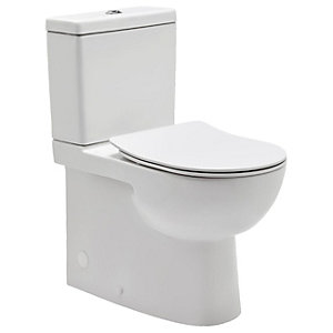 Wickes Phoenix Comfort Height Close Coupled Toilet Pan Cistern & Soft Close Seat