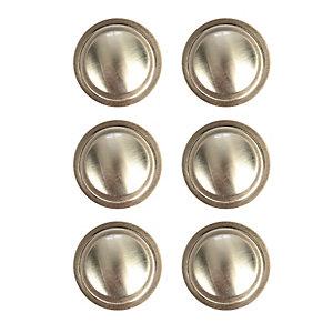 Wickes Ring Cabinet Door Knob - Brushed Nickel 35mm Pack of 6