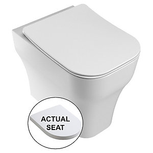 Wickes Siena Easy Clean Back To Wall Toilet Pan & Soft Close Wrap Over Seat