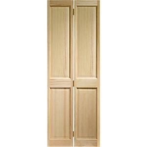 Wickes Skipton Clear Pine 4 Panel Internal Bi-Fold Door - 1981mm x 686mm