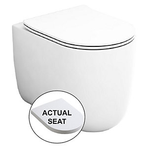 Wickes Teramo Easy Clean Back To Wall Toilet Pan & Soft Close Wrap Over Seat