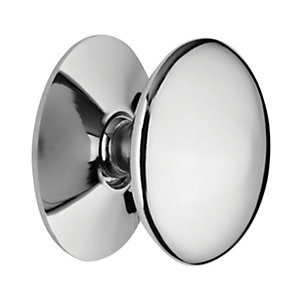 Wickes Victorian Cabinet Door Knob - Chrome 25mm Pack of 4