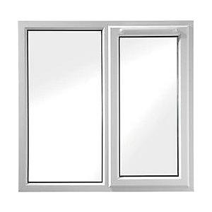Wickes White UPVC Casement Window - Right Side Hung & Fixed Lite 1190 x 1160mm