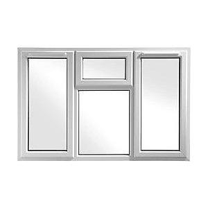 Wickes White uPVC Casement Window - Side & Top Hung 1770 x 1010mm