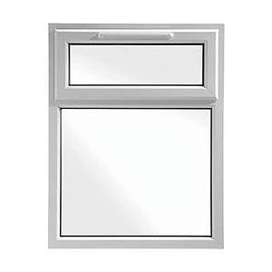 Wickes White uPVC Casement Window - Top Hung 905 x 1160mm