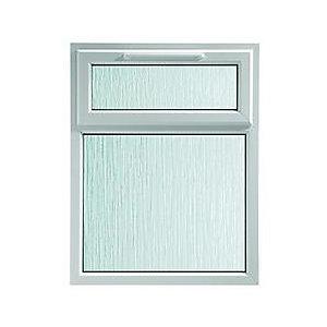 Wickes White uPVC Casement Window - Top Hung Obscure Glass 1190 x 1010mm