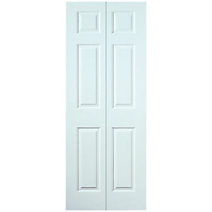 Wickes Woburn White Smooth Moulded 6 Panel Internal Bi-Fold Door - 1981mm x 762mm