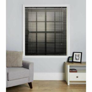 Wilko Black Aluminium Venetian Blind 180 W x 160cm D