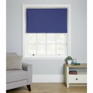 Wilko Blackout Blind Blue 120 x 160cm Polyester