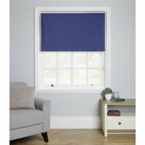 Wilko Blackout Blind Blue 90 x 160cm Polyester