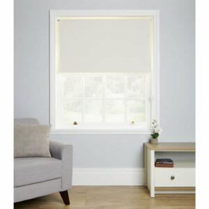 Wilko Blackout Blind Cream 90 x 160cm Polyester