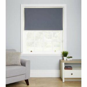 Wilko Blackout Blind Grey 90 x 160cm Polyester
