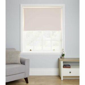 Wilko Blackout Blind Pink 180 x 160cm Polyester