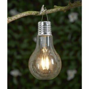 Wilko Garden Solar Retro Light Bulb Glass, plastic, electrical components