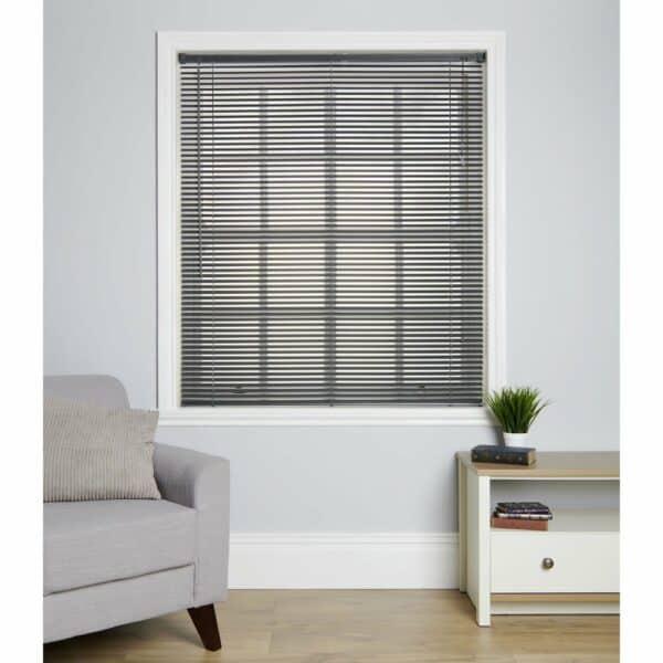 Wilko Venetian Vinyl Blind Grey 150 x 160cm