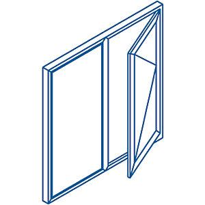 Euramax Bespoke uPVC A Rated FS Casement Window - White 2051-2450mm Width