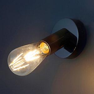 Lapetus Industrial Black nickel effect Wall light