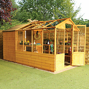 Mercia 12 x 6ft Traditional Apex Greenhouse Combi Shed