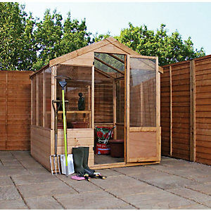 Mercia 8 x 6ft Wooden Apex Greenhouse