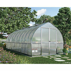 Palram 8 x 20ft Bella Extra Long Aluminium Bell Shaped Greenhouse with Polycarbonate Panels