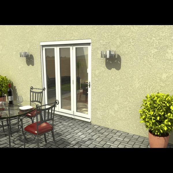 Rohden Slide & Fold Door Set 1800mm - White