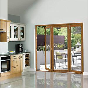 Wickes Eden Finished Oak Veneer Bi-fold Door 7ft Wide