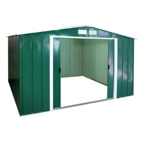 10x10ft SapphireApex Metal Shed Green