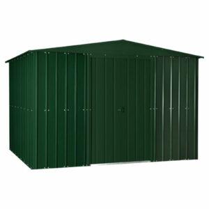 10x6ft Lotus Metal Shed Heritage Green