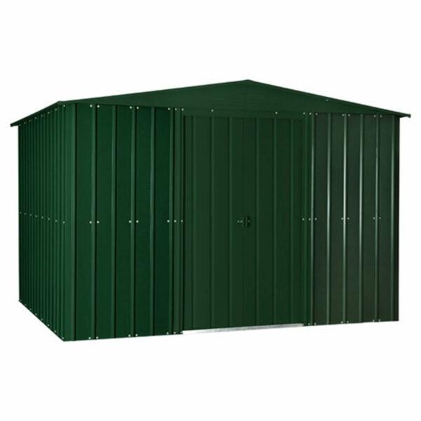 10x8ft Lotus Metal Shed Heritage Green
