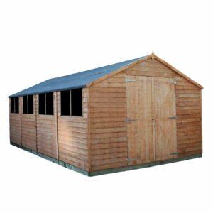 20x10ft Mercia Overlap Apex Wooden Workshop Shed