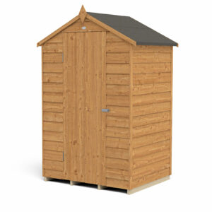 4x3ft Forest Overlap Dip Treated Apex Shed - No Window