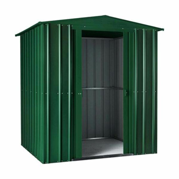 6x3ft Lotus Metal Shed Heritage Green