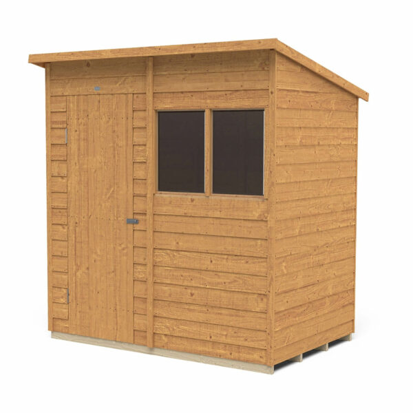 6x4ft Forest Overlap Dip Treated Pent Shed