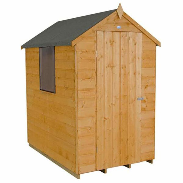 6x4ft Forest Wooden Shiplap Dip Treated Apex Shed -incl. Installation