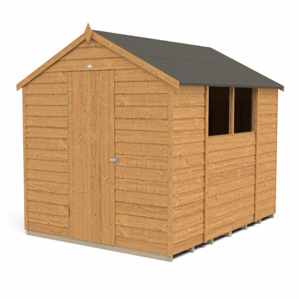 8x6ft Forest Overlap Dip Treated Apex Shed - incl. Installation