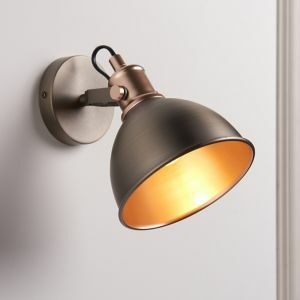 Acrobat Copper & Pewter Wired Wall Light
