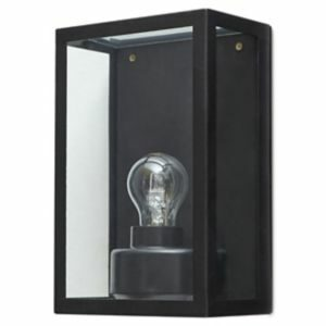 Blooma Ambler Matt Black Mains-Powered Halogen Outdoor Cage Wall Light