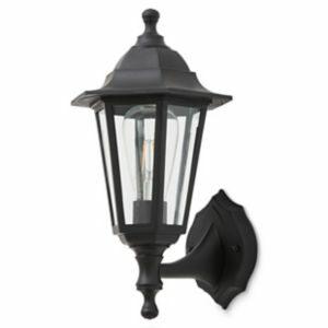 Blooma Anqui Matt Black Mains-Powered Halogen Outdoor Lantern Wall Light