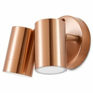 Blooma Candiac Copper Effect Mains-Powered Led Outdoor Double Wall Light 380Lm