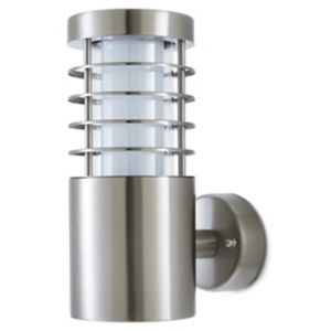 Blooma Hampstead Brushed Silver Effect Mains-Powered Led Outdoor Wall Light 260Lm